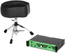 Porter & Davies BC2RM Drum Throne W/Rack Mounted Amp - Saddle Seat with Base