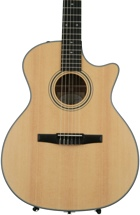 Taylor 314ce-N Grand Auditorium Nylon String Acoustic-Electric w/Cutaway, Natural