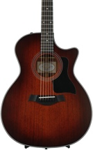 Taylor 324ce Grand Auditorium Acoustic-Electric w/Cutaway, Shaded Edgeburst