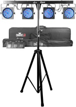 Chauvet DJ 4BAR Complete LED Light System with Tripod Stand and Carry Bag
