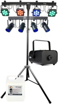 Chauvet DJ 4BAR Tri USB + 4Play Lighting System Package