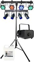 Chauvet DJ 4BAR Tri USB + 4Play Lighting System Package
