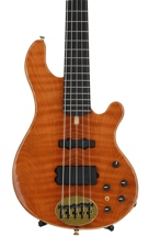 Lakland 55-94 Deluxe, Exotic Top - Curly Redwood with Ebony fingerboard