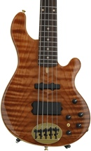 Lakland 55-94 Deluxe, Exotic Top - Curly Redwood with Rosewood fingerboard