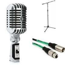 Shure 55SHII Microphone with Stand and Cable