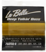 La Bella Deep Talkin' Bass Gold Flats Electric Bass Strings - 5-string