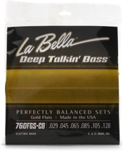 La Bella Deep Talkin' Bass Gold Flats Electric Bass Strings - 6-string