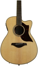 Yamaha AC1M Concert Acoustic Electric with Cutaway - Natural, Mahogany