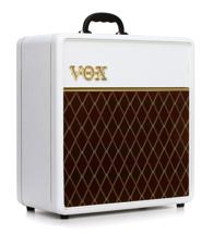 "Vox AC4C1 Limited White Bronco - 4W 1x12"" Guitar Combo Amp"