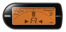 Korg AW2+ Compact Clip-On Instrument Tuner