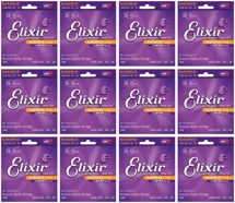 Elixir Strings 11002 Nanoweb 80/20 Bronze Extra Light Acoustic Guitar Strings 12-Pack