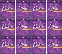 Elixir Strings 11052 Nanoweb 80/20 Bronze Light Acoustic Guitar Strings 12-Pack