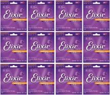 Elixir Strings 11102 Nanoweb 80/20 Bronze Medium Acoustic Guitar Strings 12-Pack