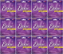 Elixir Strings 11025 Polyweb 80/20 Bronze Custom Light Acoustic Guitar Strings 12-Pack