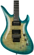 Schecter BlackJack SLS Avenger with Floyd Rose and Sustaniac - Aquaburst