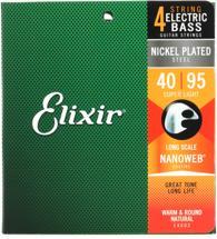 Elixir Strings 14002 Nanoweb Super Light Long Scale Electric Bass Strings