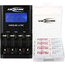 Ansmann Powerline 4 with (4) Max E Pro AA Batteries