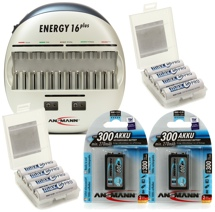 Ansmann Energy 16 Plus Charger and Max E Pro Battery Package