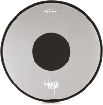 RTOM Black Hole Snap On Mesh Bass Drum Practice Pad - 20""