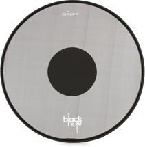 "RTOM Black Hole Snap On Mesh Bass Drum Practice Pad - 22"""