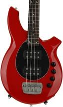 Ernie Ball Music Man Bongo 4 HH, Sweetwater Exclusive - Chili Red w/Black Pickguard