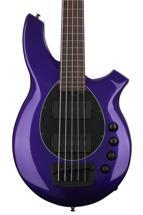 Ernie Ball Music Man Bongo 5 HH Fretless - Firemist Purple