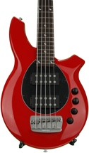 Ernie Ball Music Man Bongo 5HH, Sweetwater Exclusive - Chili Red w/Black Pickguard