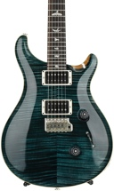 PRS Custom 24 10-Top - Slate Blue with Pattern Thin Flame Maple Neck