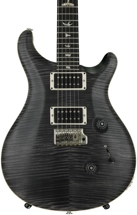 PRS Custom 24 10-Top - Satin Gray Black with Pattern Thin Neck