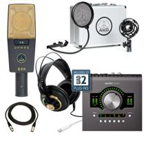 AKG C414XLII with Apollo Twin MKII QUAD