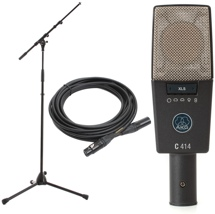 AKG C414 XLS Stand Cable Pack Large-Diaphragm Condenser Microphone