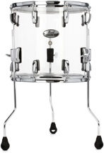 "Pearl Crystal Beat Floor Tom - 14""x13"", Ultra Clear"