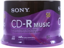 Sony Music CD-R 50-disc Spindle
