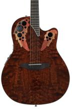 Ovation Celebrity Elite Plus Super Shallow - Tiger Eye