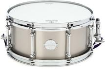 "Dunnett Classic Titanium Snare Drum - 6.5""x14"" - Raw Finish"