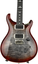 PRS Custom 24 10-Top - Cherry Charcoal Burst with Pattern Thin Neck