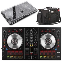 Pioneer DJ DDJ-SB2 with Decksaver Cover and Gator Club Bag
