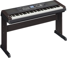 Yamaha DGX650 88-key Arranger Piano with Stand - Black with Rosewood trim