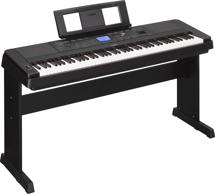 Yamaha DGX-660 88-key Arranger Piano with Stand - Black