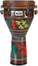 Remo Mondo Key Tuned Designer Series Djembe - 12x24 - Adinkra Finish