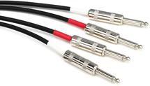 Pro Co Excellines Dual Instrument Patch Cable - 20' Straight-Straight