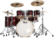 Pearl Decade Maple Shell Pack - 7pc - Crimson Galaxy Flake Wrap