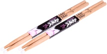 On-Stage Stands 5A Nylon Tip Hickory Drumsticks - 2-Pair