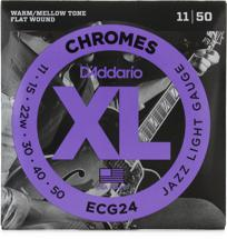 D'Addario ECG24 Chromes Flatwound Jazz Light Electric Strings