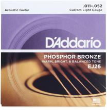 D'Addario EJ26 Phosphor Bronze Custom Light Acoustic Strings