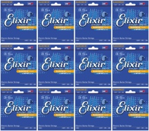 Elixir Strings 12052 Nanoweb Light Electric Guitar Strings 12-Pack