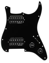 EMG ST12 Strat Style Pre-Wired Pickguard H/H Black