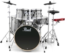 Pearl E-Pro Powered by Export 5-pc Electronic Drum Set Standard Fusion - Smokey Chrome
