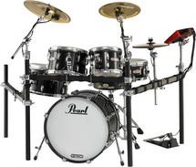 Pearl E-Pro Live - Jet Black, Brass Cymbals