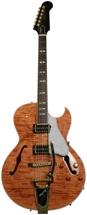 Gibson Memphis ES-195 Figured - Trans Amber Vintage Gloss